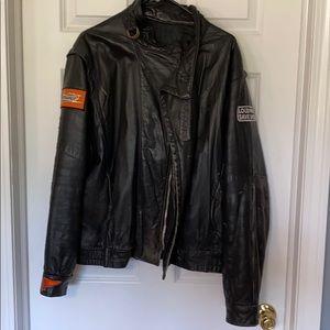 Vintage/Retro men leather motorcycle jacket